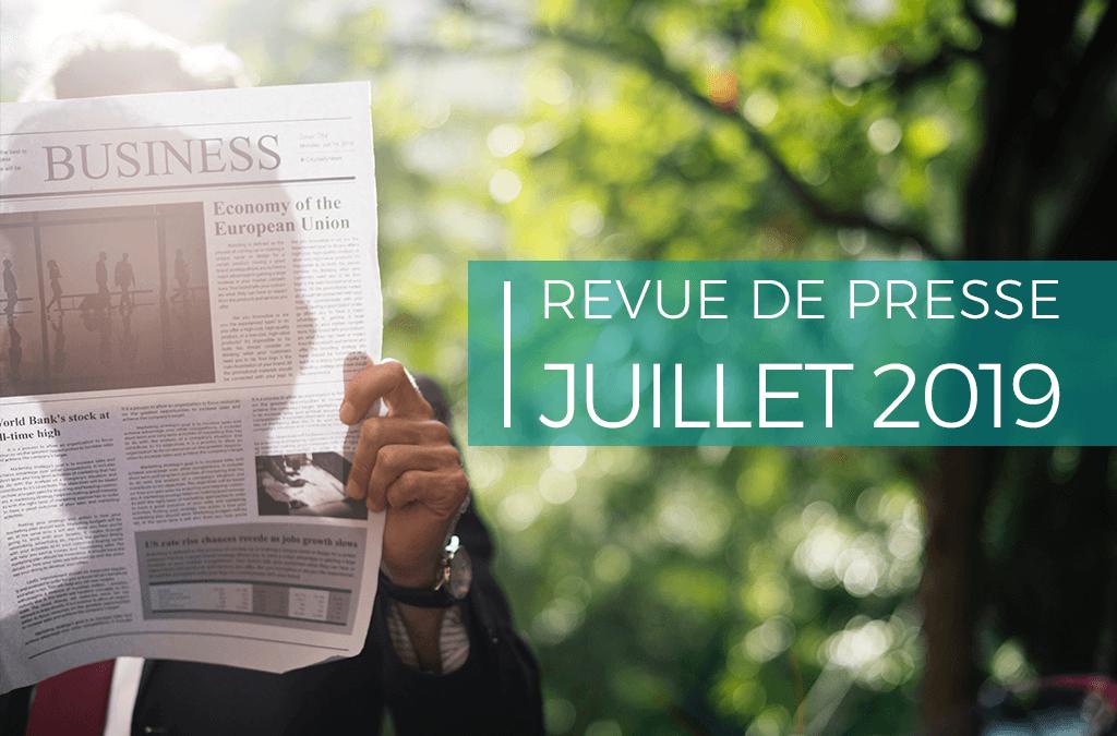 Revue de presse – juillet 2019