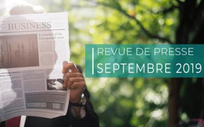 Revue de presse – septembre 2019