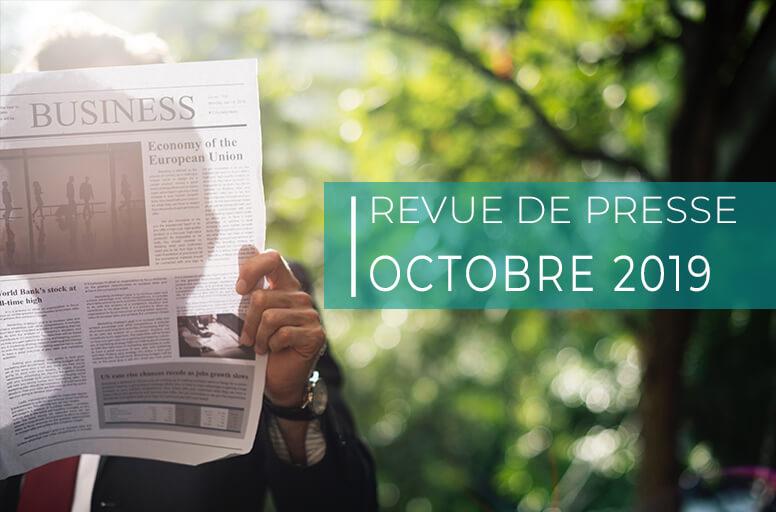 Revue de presse – octobre 2019