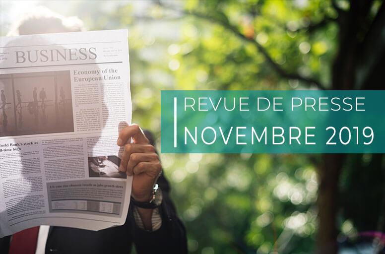 Revue de presse – novembre 2019