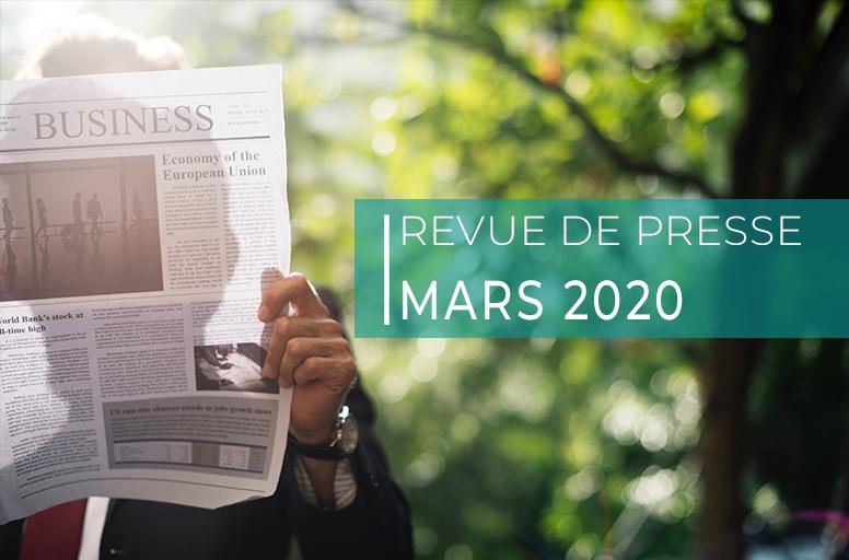 Revue de presse – mars 2020