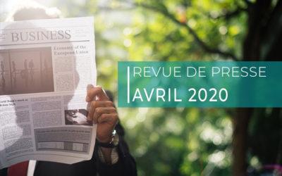 Revue de presse – avril 2020