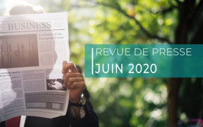 Revue de presse – juin 2020