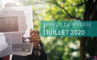 Revue de presse – juillet 2020